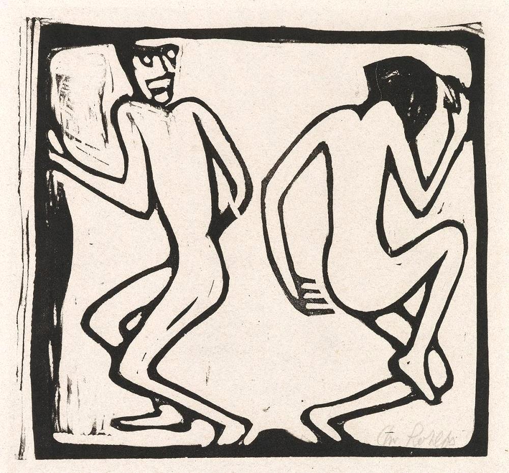 Zwei Tanzende, 1913 (Two dancers)