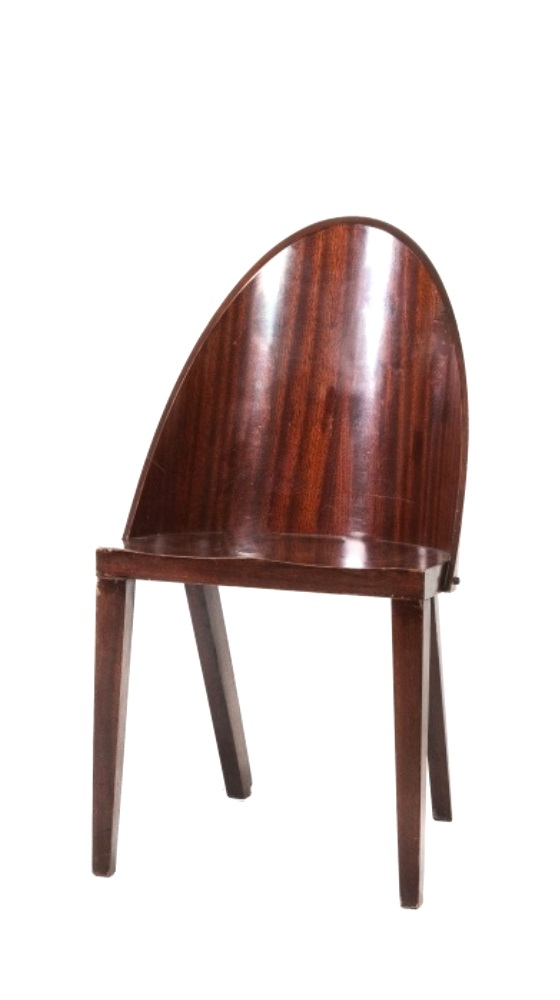 Pair of wooden chairs circa 1980