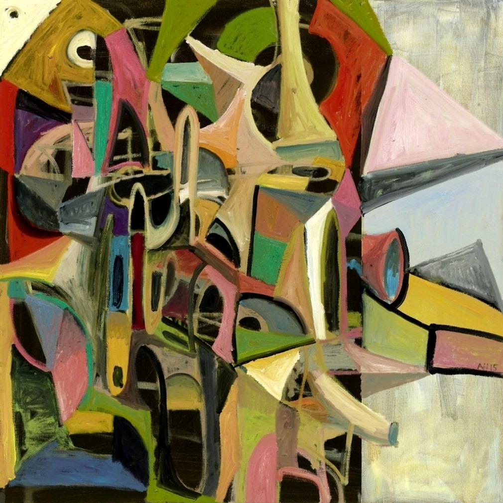 Abstrackte Komposition AH15, 2015